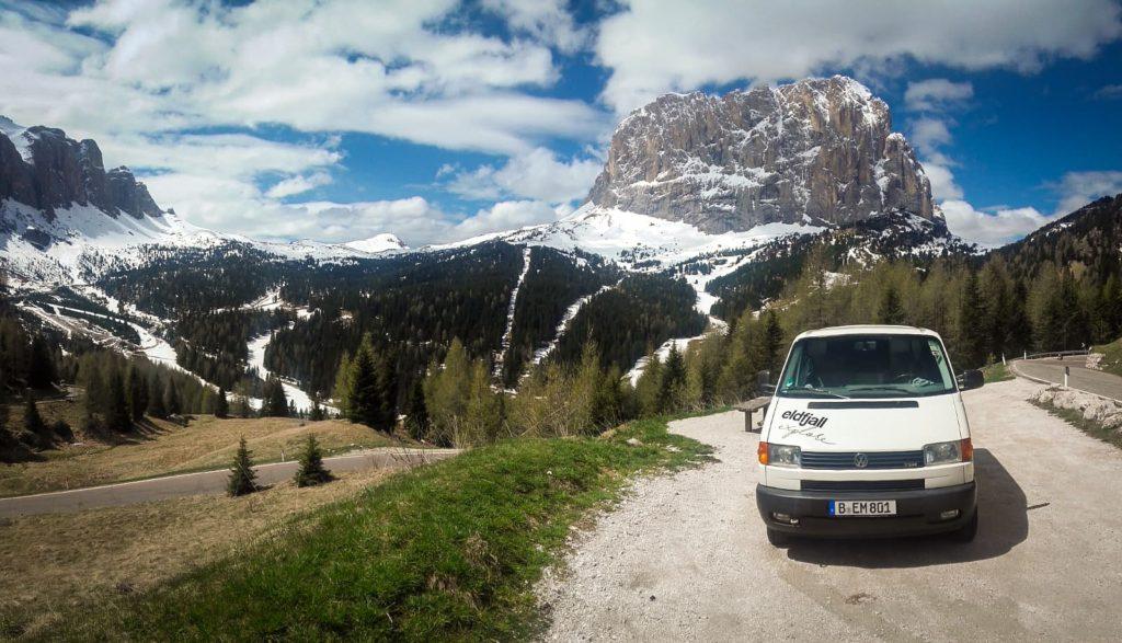 VW T4 in den italienischen Alpen